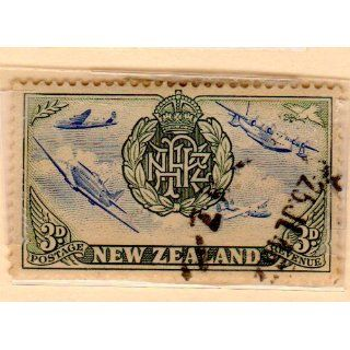 New Zealand Air Force Stamp Dated 1946, Scott #251.: Everything Else