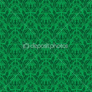 Green seamless wallpaper  Vector Stock © Nikolay Zaburdaev #1410796