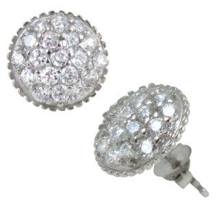 10k White Gold Cubic Zirconia Stud Earrings
