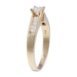 14k Yellow Gold 1/2ct TDW Diamond Engagement Ring (J K, I2 I3