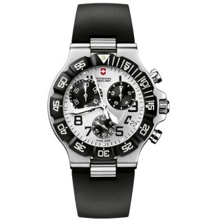 Victorinox Swiss Army Mens Summit XLT Chrono Silver Dial Watch