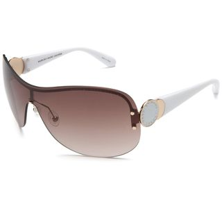 Marc by Marc Jacobs Womens White Shield Sunglasses
