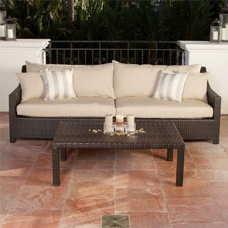 Slate Sofa and Coffee Table Set Patio Furniture