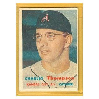 1957 Topps 142 Charley Thompson Athletics VG: Collectibles