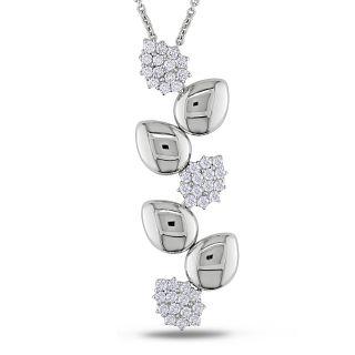 Miadora 18k White Gold 1ct TDW Diamond Necklace (G H, SI1 SI2) MSRP $