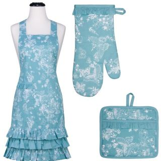 Mariposa Ruffle Apron and Mitt Hostess Gift Set