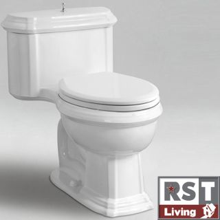 RST Living Icera Vanier Chair height Elongated White One piece Toilet
