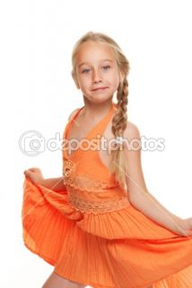 Picture of a funny little girl  Stock Photo © Andrejs Pidjass