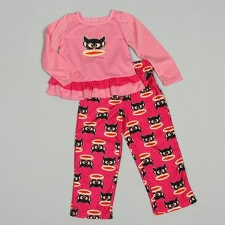 Small Paul by Paul Frank Girls Ruffle Trim Sleepwear Set