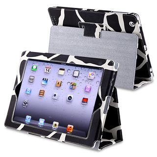 Milk Cow Faux leather Protective Case with Stand for Apple iPad 3