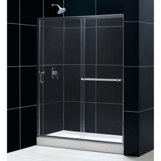 DreamLine Tub To Shower Kit Infinity Plus Shower Door and  Base