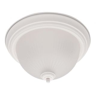 White 1 light Flush Mount Ceiling Fixture