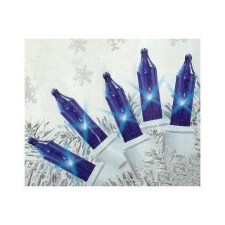 Set of 140 Blue Everglow Chasing Mini Christmas Lights