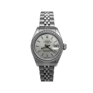 Pre Owned Lady Rolex Stainless Steel Oyster Perpetual Datejust Watch