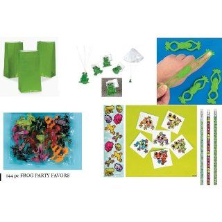 144 FROG Party FAVORS/Boys Birthday Toys/Pencils/STICKERS/TATTOOS/Bags