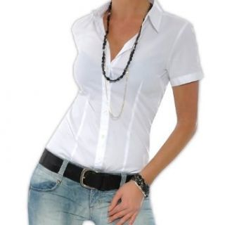 VERO MODA Blusenbody Shirt kurzarm weiß Bekleidung