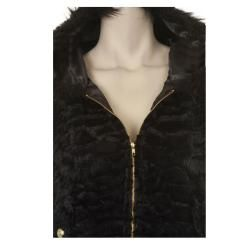 Tabeez Womens Faux fur Hooded Vest
