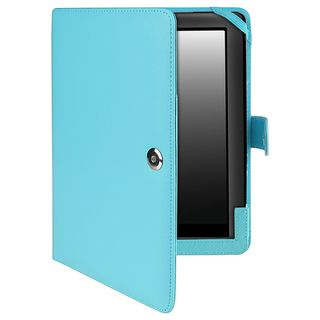 BasAcc Light Blue Leather Case for Barnes & Noble Nook HD+