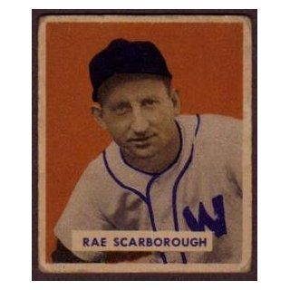 1949 Bowman 140 Rae Scarborough Washington Senators G VG
