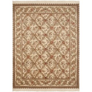 Asian Hand knotted Royal Kerman Ivory Wool Rug (5 x 7)