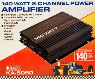 Kraco 140 Watt 2 Channel Power Amplifier   KA 5050 Car