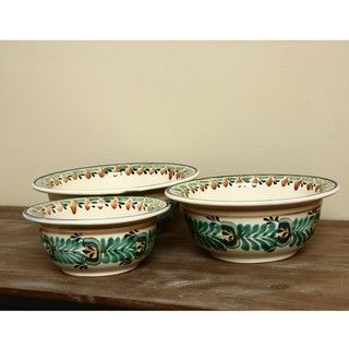 Exotic Leaf Serving Bowl (Set of 3) (Mexico)