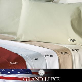 Grand Luxe Egyptian Cotton Sateen 500 Thread Count Solid Full size