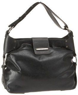 matt & nat Jorja LG Damen Handtasche, LM028, schwarz (black):