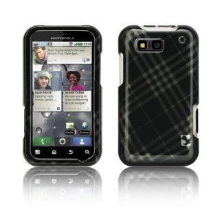 Luxmo Motorola Defy Smoke Diagonal Checker Protector Case