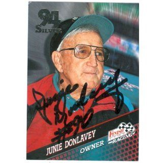 Donlavey autographed Trading Card (Auto Racing) 1994 Finish Line #144
