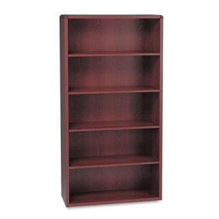 HON 10600 Series Mahogany 5 shelf Wood Bookcase