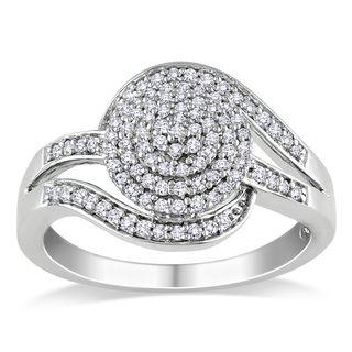 Miadora Sterling Silver 1/3ct TDW Diamond Ring (H I, I2 I3