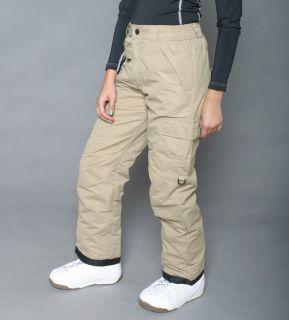 Pulse Womens Khaki Classic Cargo Snow Pants