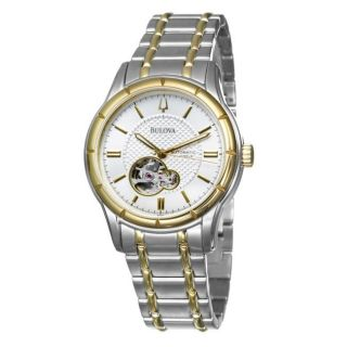 Bulova Mens BVA Series Two tone Stainless Steel Automatic Watch