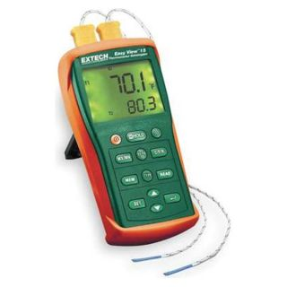 Extech EA10 Thermocouple Thermometer, 2 Input, Type K