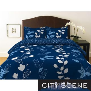 City Scene Garden Trellis Full/ Queen size Duvet Cover Set