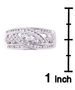 14 kt. White Gold 1/4 ct. TW Diamond Antique Replica Ring