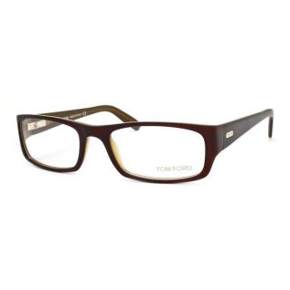 Tom Ford Womens Eggplant/Olive Optical Eyeglasses