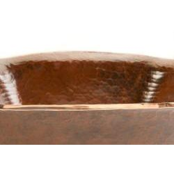 Square Hand forged Old World Copper Vessel Sink
