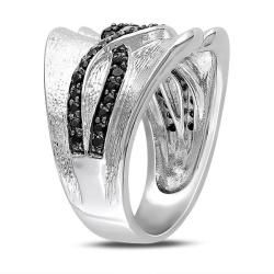 Miadora Sterling Silver Black Spinel Fashion Ring