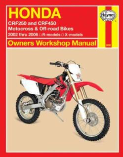 Honda Crf250 and Crf450 Motocross & Off road Bikes 2002 Thru 2006