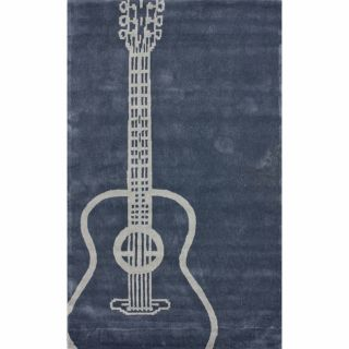 Handmade Luna Guitar Grey Rug (5 x 8)