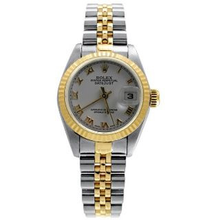 Pre owned Rolex Datejust Womens Two tone White Dial Watch
