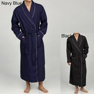 Alexander Del Rossa Mens Classic Cotton Lounge Robe