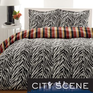 City Scene Paloma Leaf Cotton 3 piece Duvet Cover Set Today $52.99