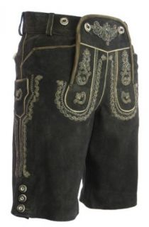 kurze Lederhose Ulli in (COFFEE) braun von Maddox Country