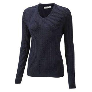 Ashworth   Golf Pullover Sweater   V Ausschnitt   Damen   Dunkelblau
