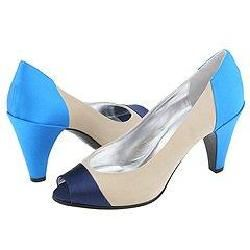 Marc by Marc Jacobs 684844 Navy/Beige/Sky Satin Pumps/Heels