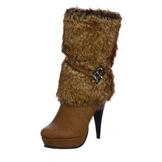 Luichiny Womens Fur Sure Faux Fur Boots FINAL SALE