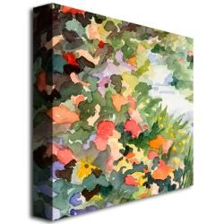 Beverly Brown Path Monets Garden in Giverny Canvas Art